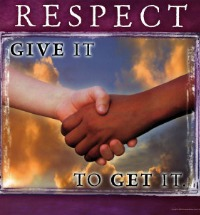 Poster Respect Give it to Get It